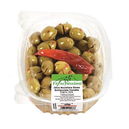 Olive Nocellara Etnea Schiacciate Condite