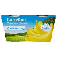 Carrefour Yogurt con Banane Cremoso