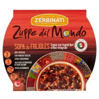 Zerbinati Zuppe dal Mondo Sopa de Frijoles Zuppa con Fagioli Neri e Riso Integrale