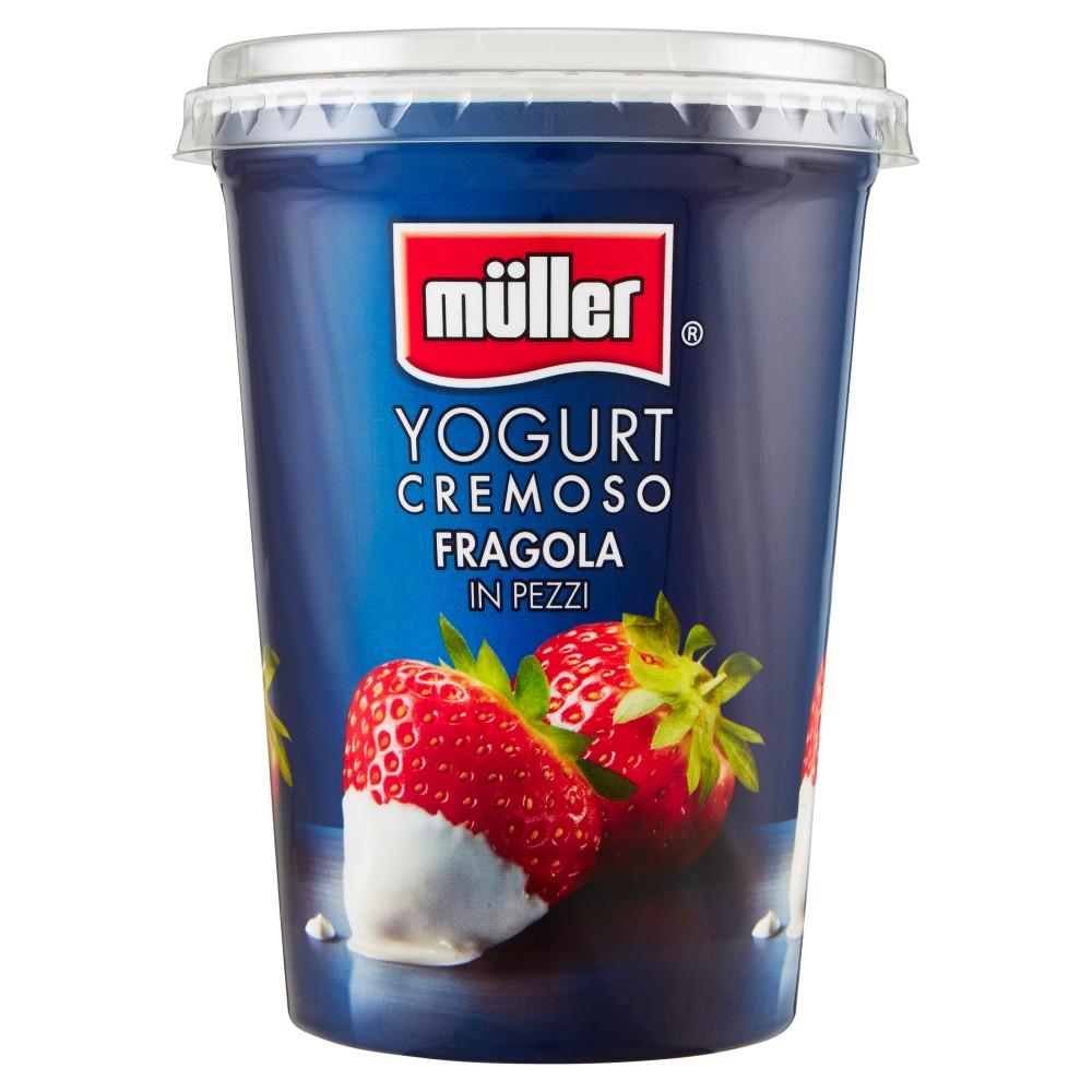 müller Yogurt Cremoso Fragola in Pezzi