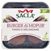 Saclà Bio Burger di Mopur Farro e Melanzane