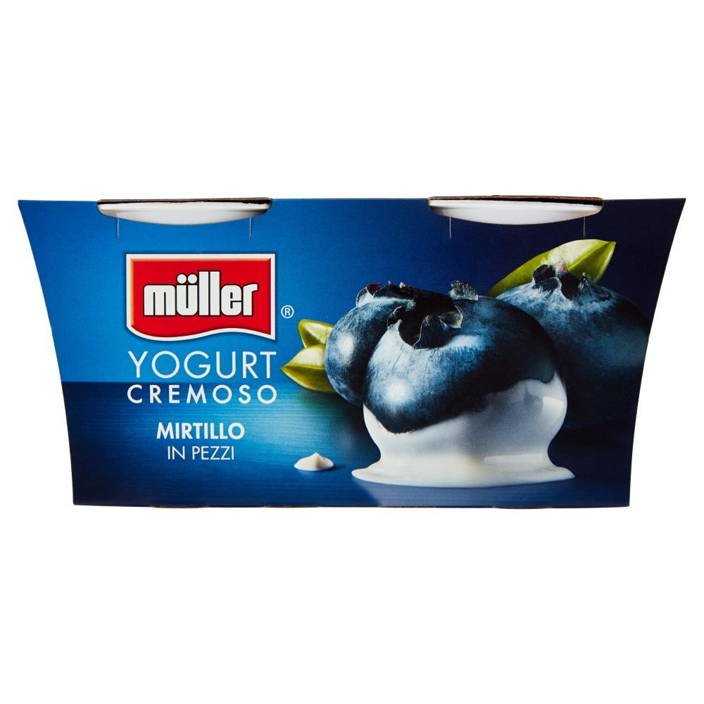 müller Yogurt Cremoso Mirtillo in Pezzi