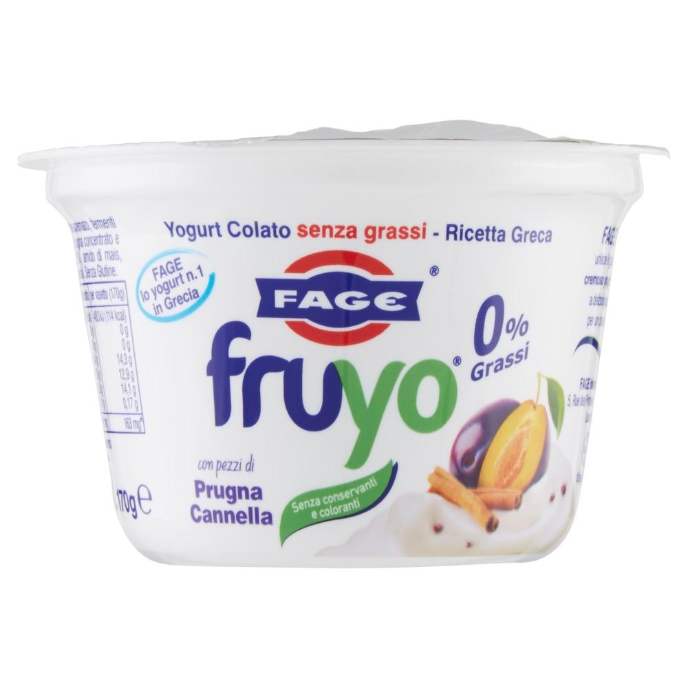 Fage fruyo 0% Grassi Prugna Cannella
