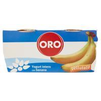 Oro Yogurt intero con banane