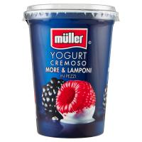 müller Yogurt Cremoso More & Lamponi in Pezzi
