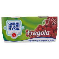 Centrale del latte di Roma Fragola yogurt magro con pezzi di frutta