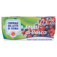 Centrale del latte di Roma Frutti di bosco yogurt magro con pezzi di frutta