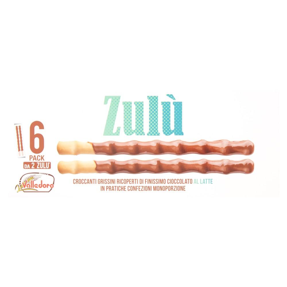 Valledoro Zulù Croccanti Grissini Ricoperti di Finissimo Cioccolato al Latte