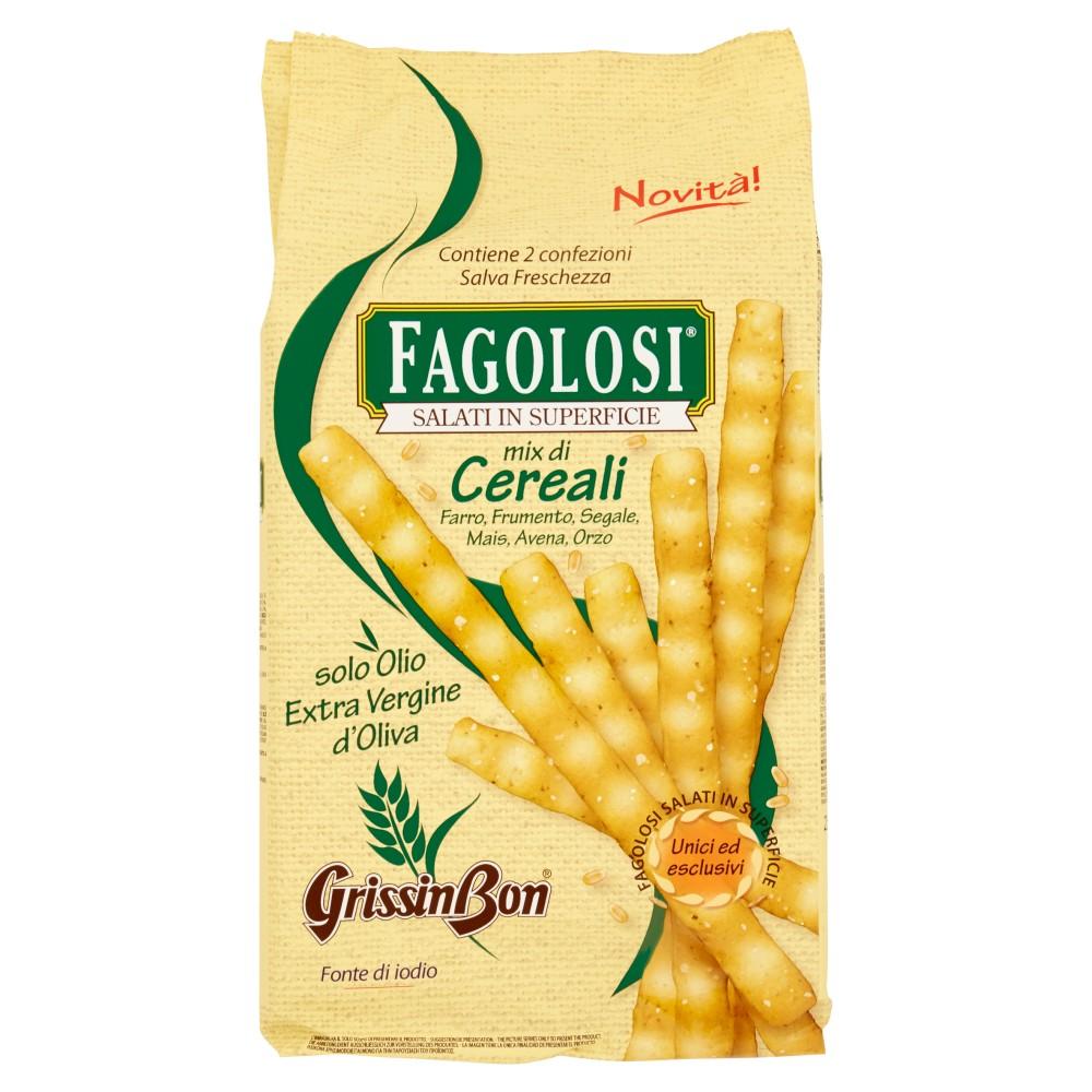 GrissinBon Fagolosi con Farina di Farro Integrale e Cereali
