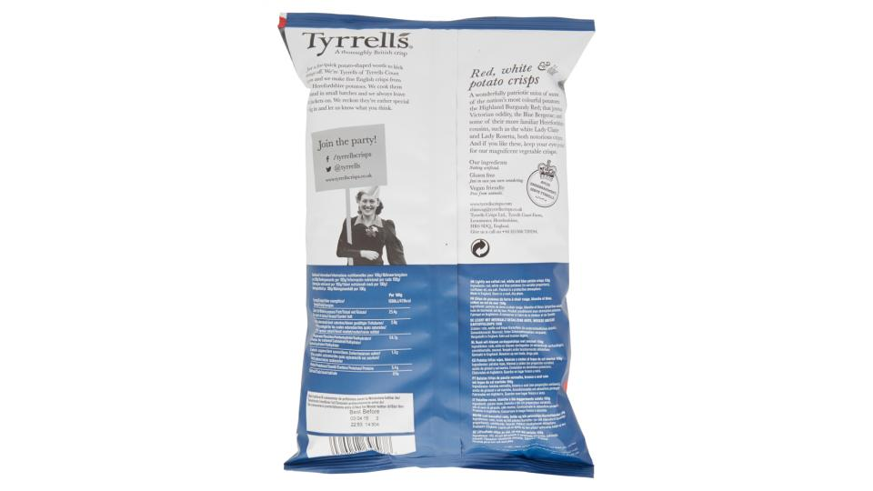 Tyrrells Red, white & blue crisps