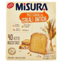 Misura Multigrain con Cereali Antichi 40 Fette Biscottate