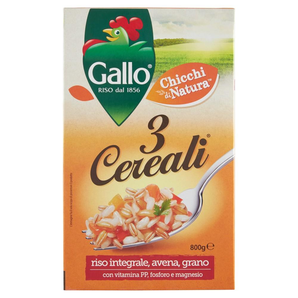 Gallo 3 Cereali Riso Integrale, Avena e Grano