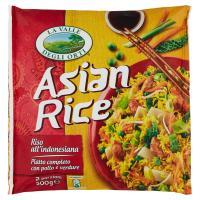 LA VALLE DEGLI ORTI ASIAN RICE Riso con verdure, pollo, cocco grattugiato e spezie, surgelato