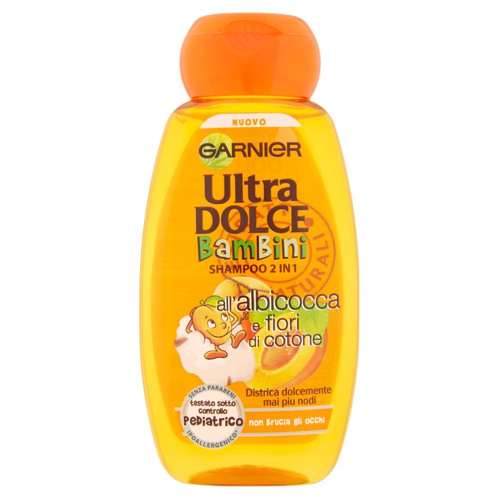 Garnier Ultra Dolce Bambini Shampoo 2 in 1 all'albicocca e fiori di cotone