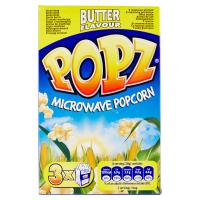 Popz Microwave Popcorn butter flavour