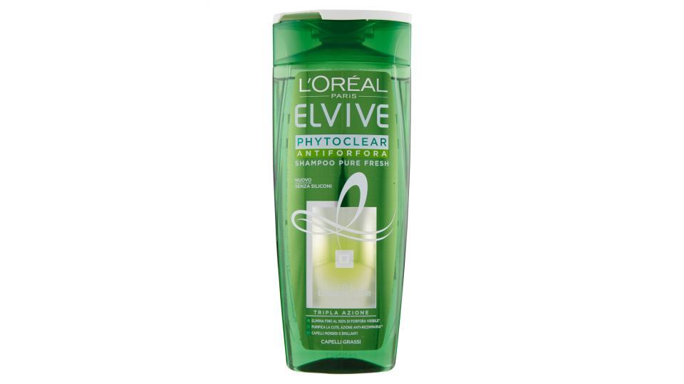 L'Oréal Paris Elvive Phytoclear - Shampoo antiforfora pura freschezza per capelli grassi