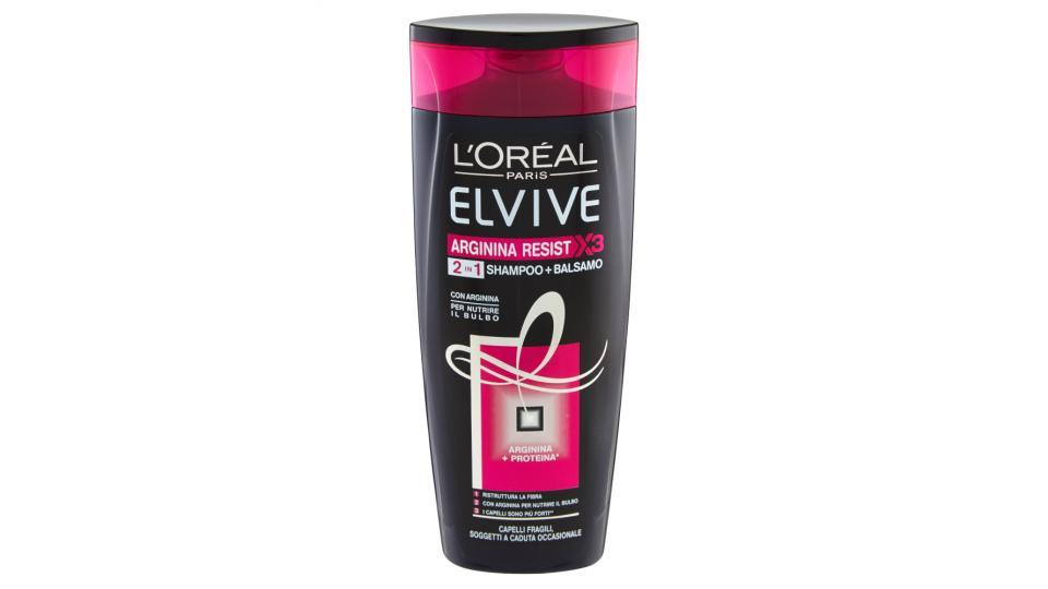 Elvive Arginina Resist X3 2in1 Shampoo + balsamo capelli fragili