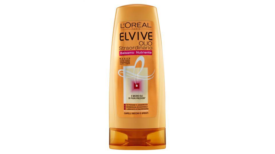 Elvive Olio Straordinario Balsamo nutriente capelli secchi o spenti