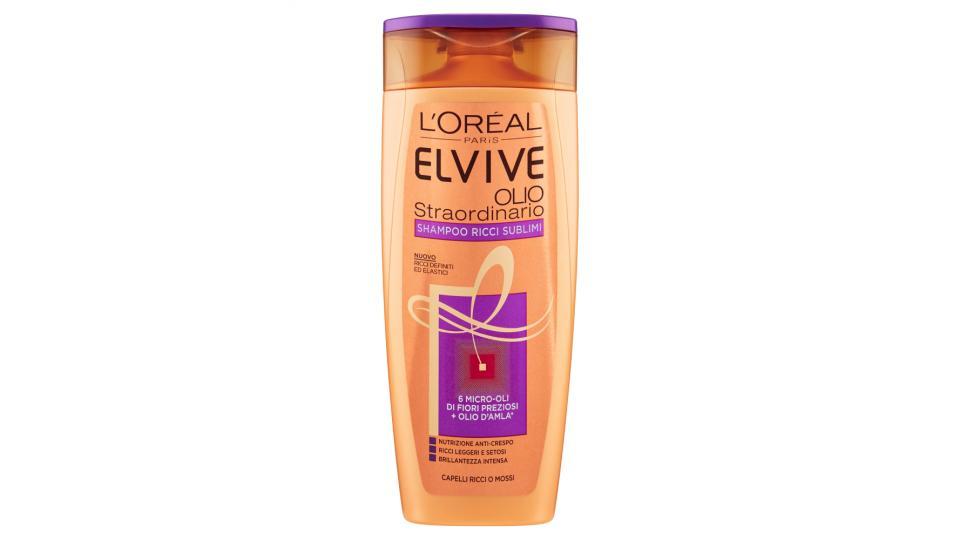 Elvive Olio Straordinario Shampoo Ricci Sublimi Capelli Ricci o Mossi