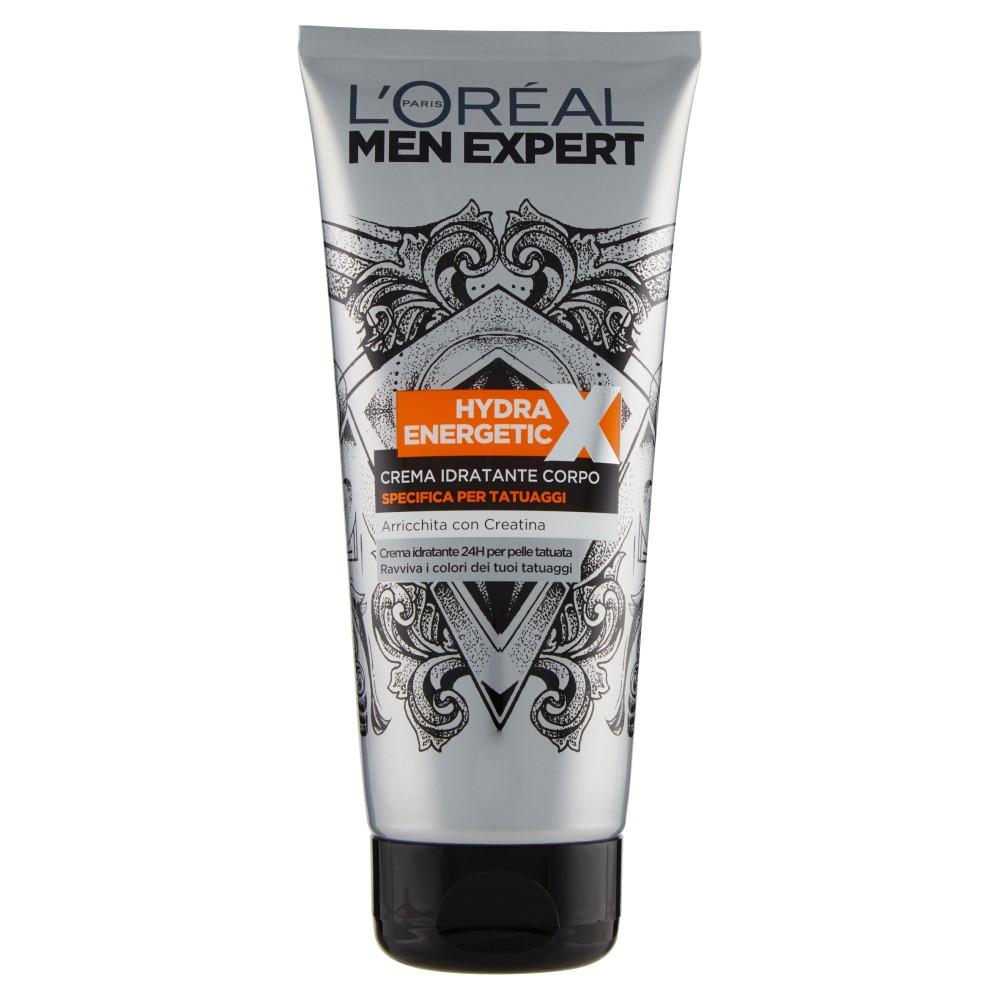 L'Oréal Paris Men Expert Hydra Energetic X - Crema corpo specifica per tatuaggi