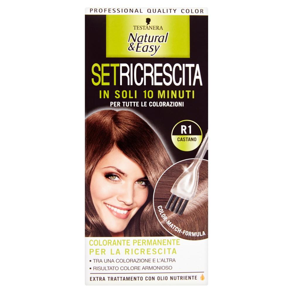Testanera Natural&Easy Set ricrescita R1 castano