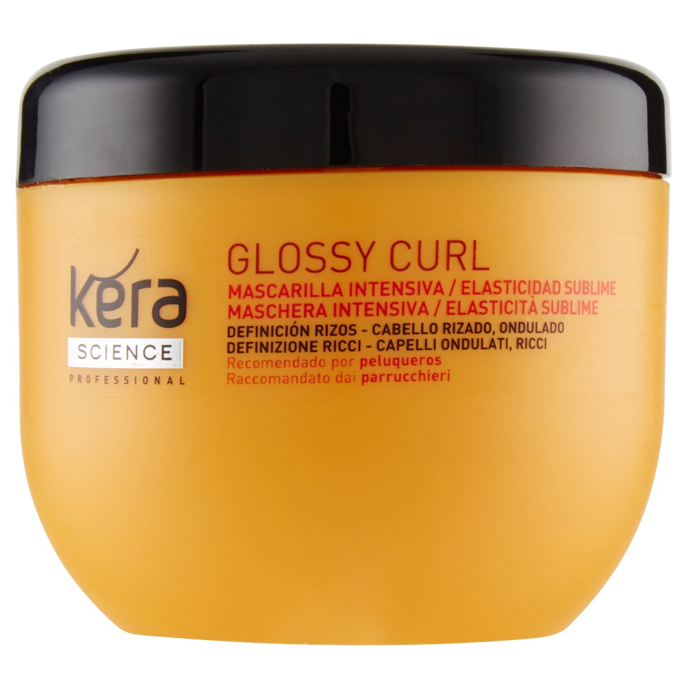 Kera Science Professional Glossy Curl Maschera Intensiva / Elasticità Sublime