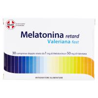 Matt Divisione Pharma Melatonina retard Valeriana fast 30 compresse
