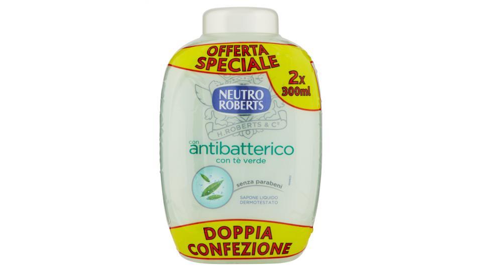 Neutro Roberts con antibatterico Sapone Liquido Dermotestato Duetto Ricarica