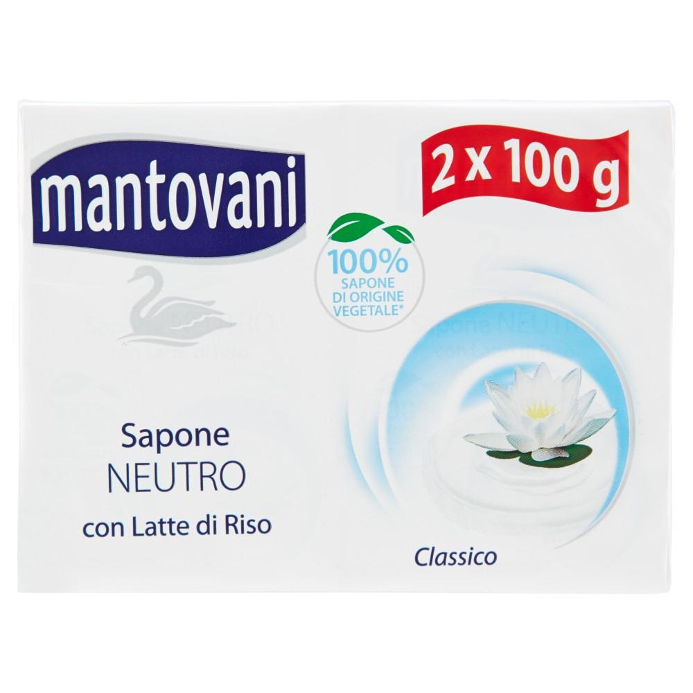 Mantovani Sapone Neutro Classico con Latte di Riso