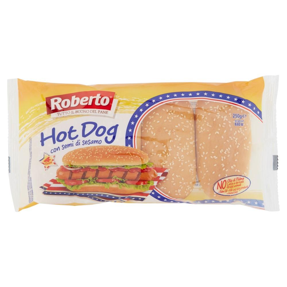 Roberto Hot Dog con semi di sesamo 4 Panini