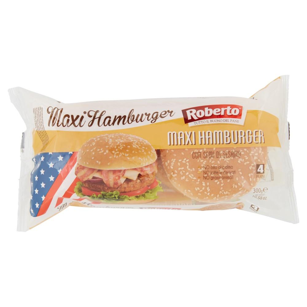 Roberto Maxi Hamburger con semi di sesamo 4 Panini