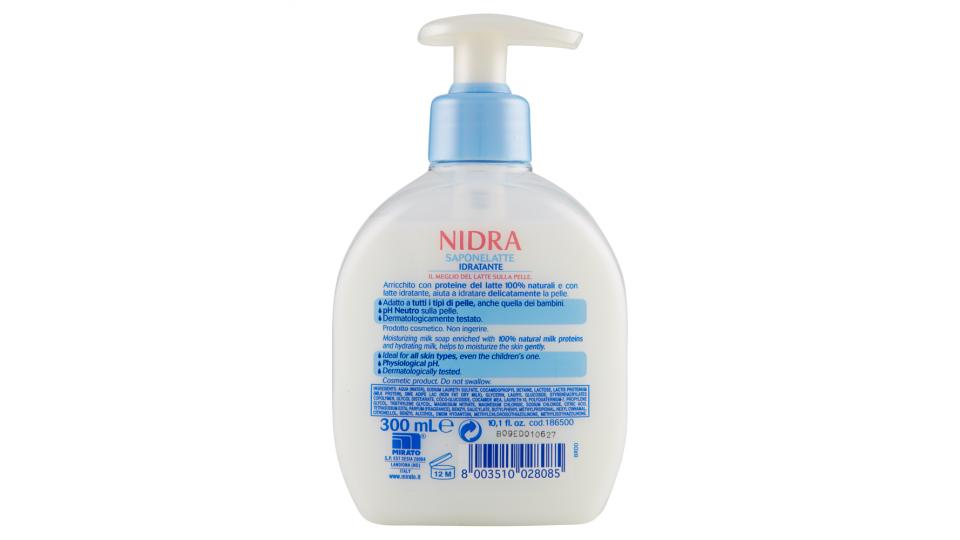 Nidra Saponelatte Idratante con proteine del Latte