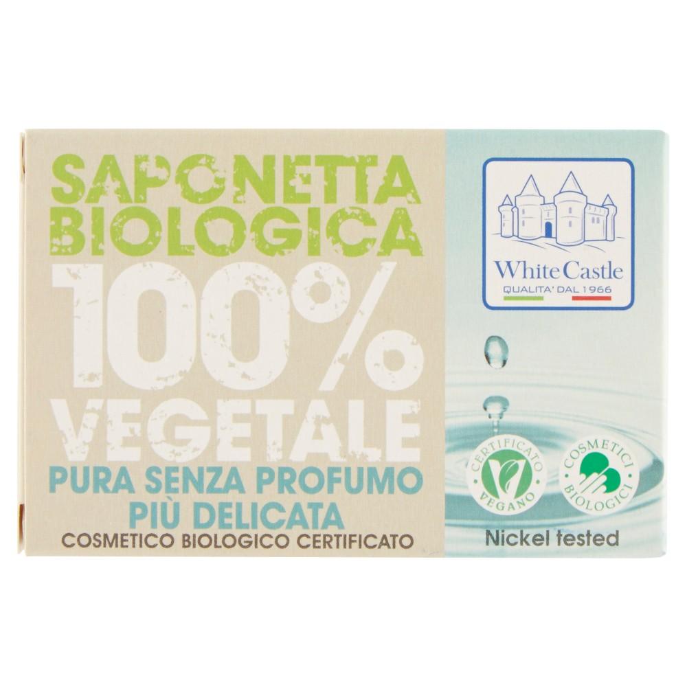White Castle Saponetta Biologica 100% Vegetale Pura Senza Profumo Più Delicata