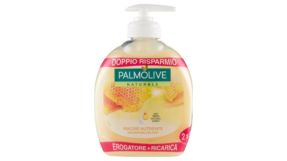 Palmolive Naturals Latte e Miele Detergente Liquido per le Mani Erogatore + Ricarica