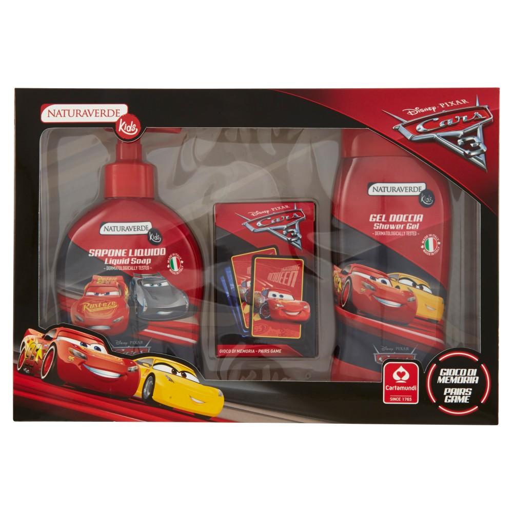 Naturaverde Kids Gift Set Disney Cars 3 Gel Doccia 250ml +Sapone Liquido