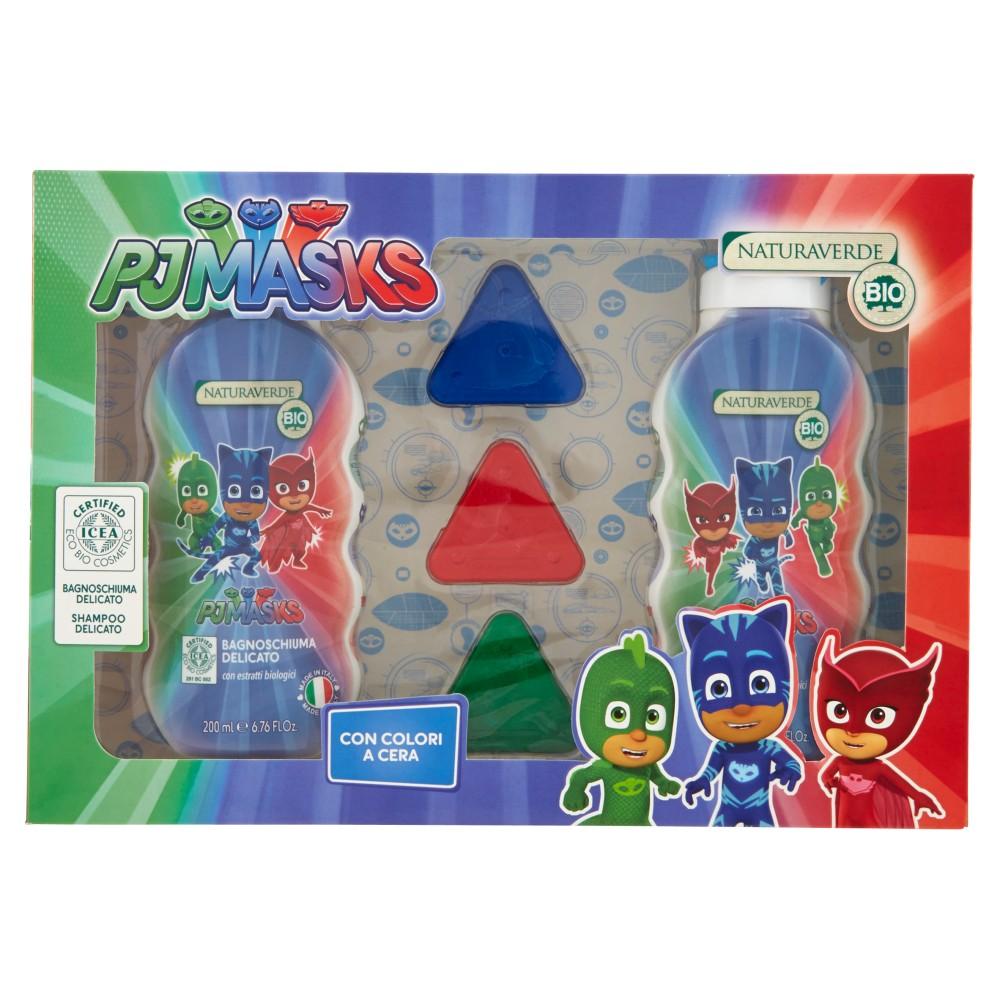 Naturaverde Bio Gift Set PJ Masks Bagnoschiuma Delicato 200ml +Shampoo Delicato