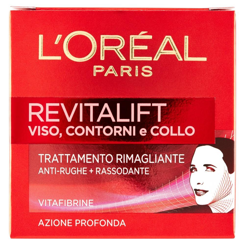 L'Oréal Paris Revitalift Viso, Contorni e Collo Trattamento Rimagliante Anti-Rughe+Rassodante