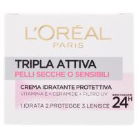 L'Oréal Paris Tripla Attiva Pelli Secche o Sensibili Crema idratante protettiva