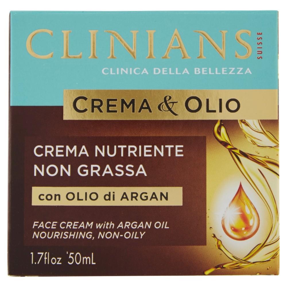 Clinians Crema&Olio Crema Nutriente Non Grassa con Olio di Argan