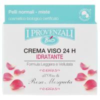 I Provenzali Bio Crema Viso 24h Idratante all'Olio di Rosa Mosqueta Pelli normali-miste