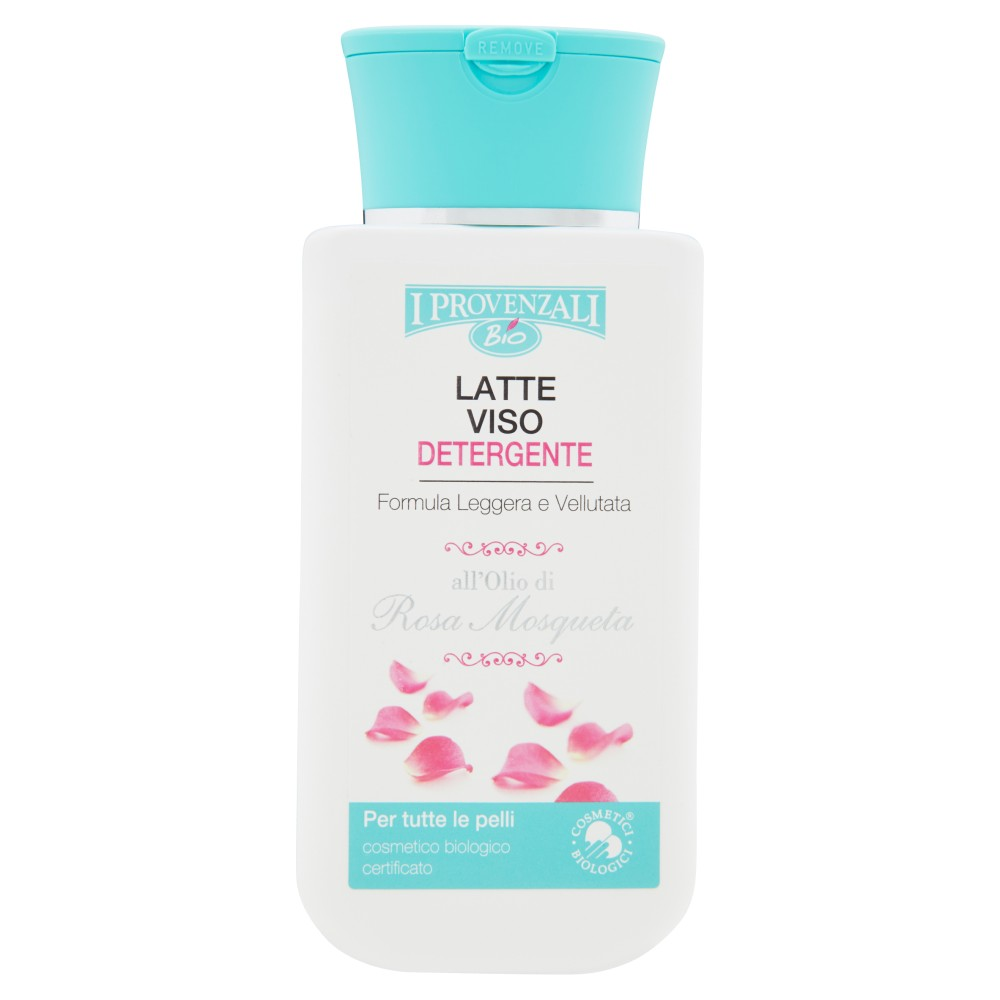 I Provenzali Bio Latte Viso Detergente all'Olio di Rosa Mosqueta per tutte le pelli
