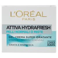 L'Oréal Paris Attiva Hydrafresh Pelli Normali o Miste Gel-Crema Super Idratante