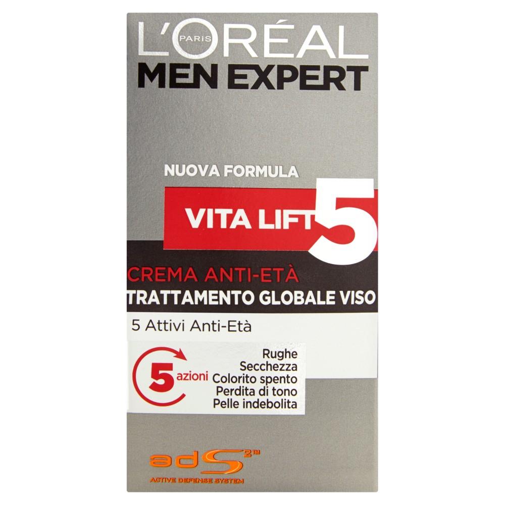 L'Oréal Paris Men expert Vita lift5 crema anti-età trattamento globale viso