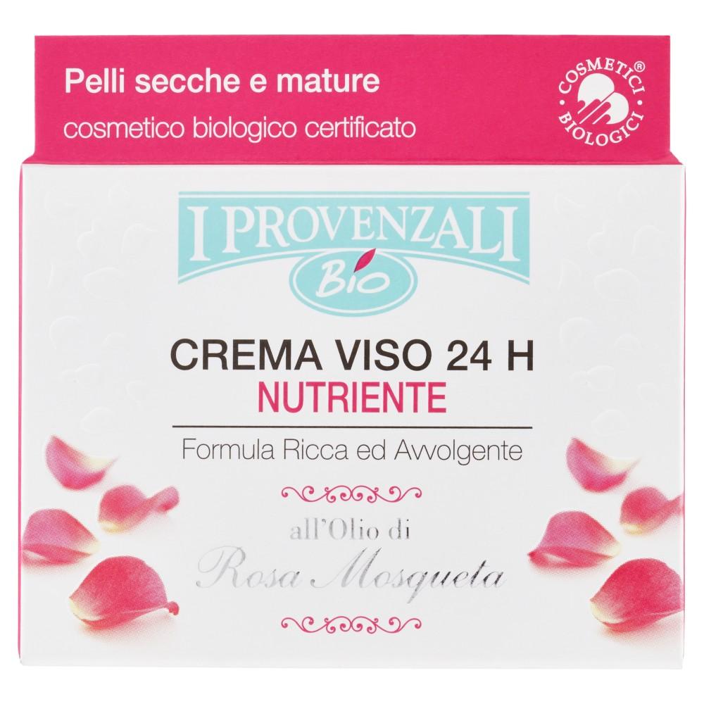 I Provenzali Bio Crema Viso 24h Nutriente all'Olio di Rosa Mosqueta Pelli secche e mature