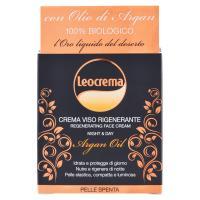 Leocrema Crema viso rigenerante con olio di argan pelle spenta