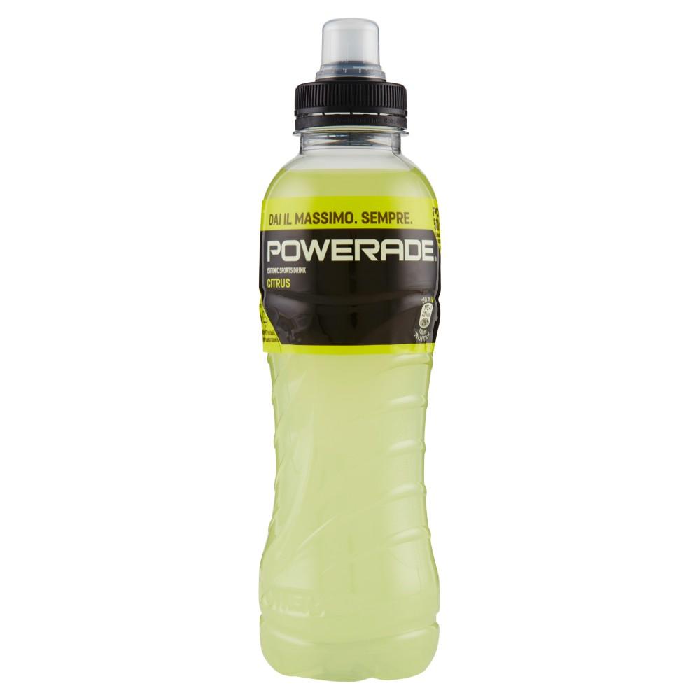 Powerade sport drink gusto limone bottiglia di plastica da