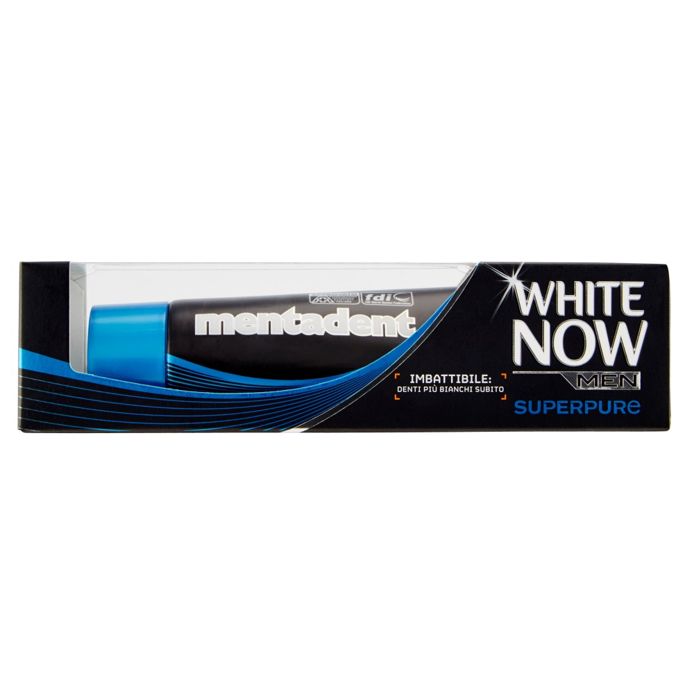 Mentadent White now men superpure