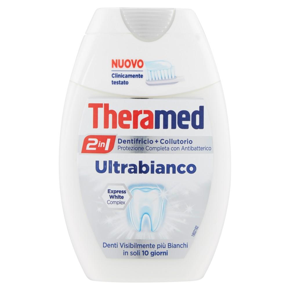 Theramed 2in1 Dentifricio+collutorio ultrabianco
