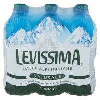 LEVISSIMA, Acqua Minerale Naturale Oligominerale, Bottiglia Piccola 50cl x