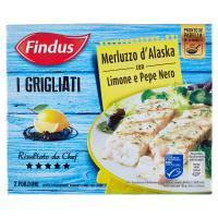 Findus I Grigliati Merluzzo d'Alaska con Limone e Pepe Nero
